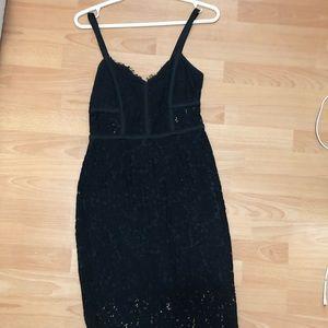 Express lace midi dress